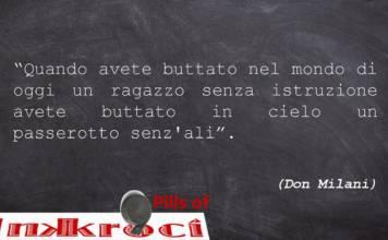 Don Milani aforismi